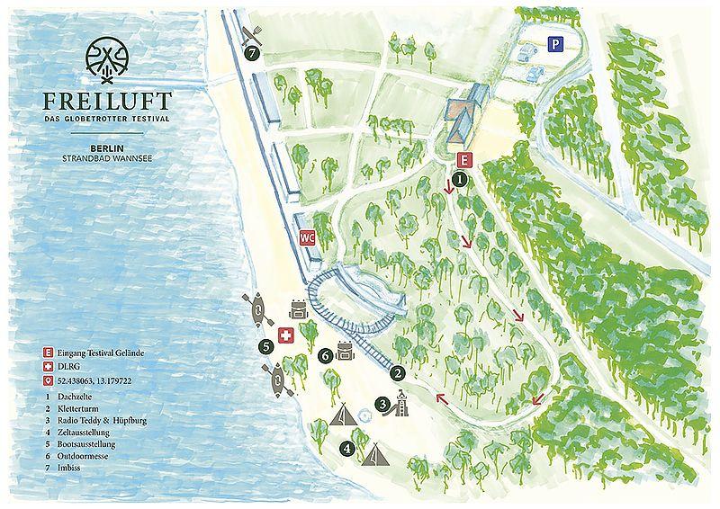 Freiluft Testival Karte Berlin