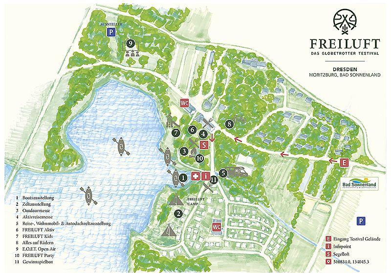 Freiluft Testvial Lageplan Dresden