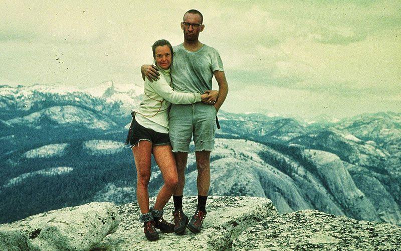 Royal Robbins und Liz Robbins nach Erstbesteigung Half Dome