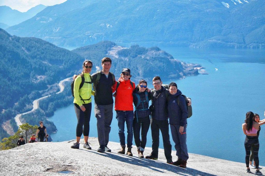 Arcteryx Gruppe in den Coast Mountains Kanada