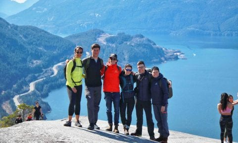 Arcteryx Gruppe in den Coast Mountains Kanada