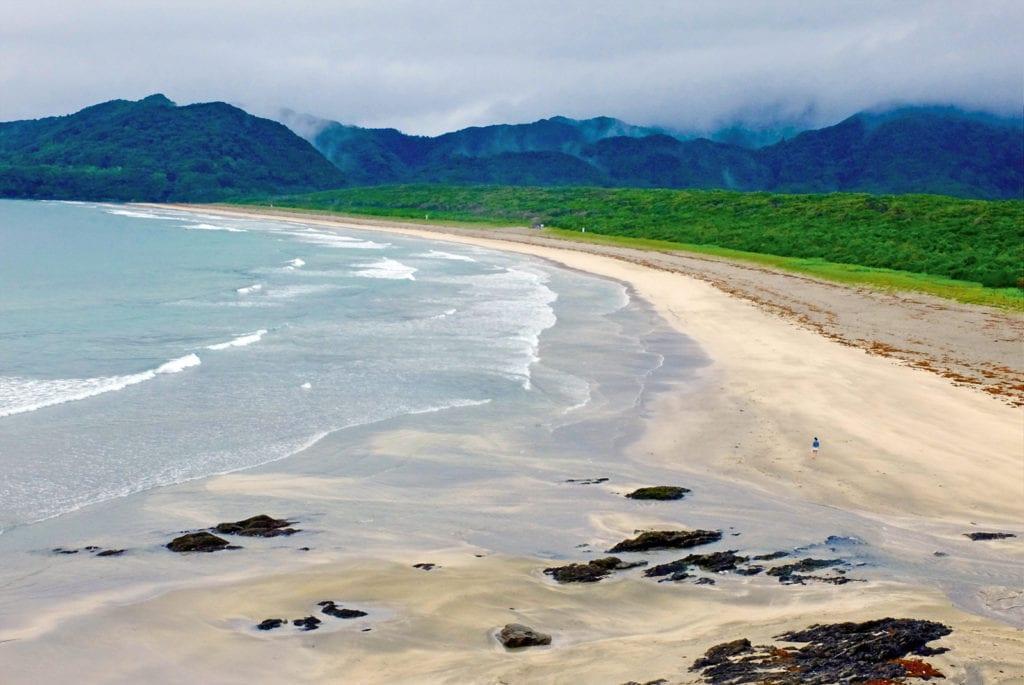 Ein Strand auf den japanischen Insel Shikoku