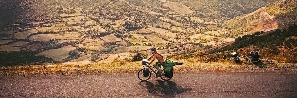 Radfahrer in Afrika