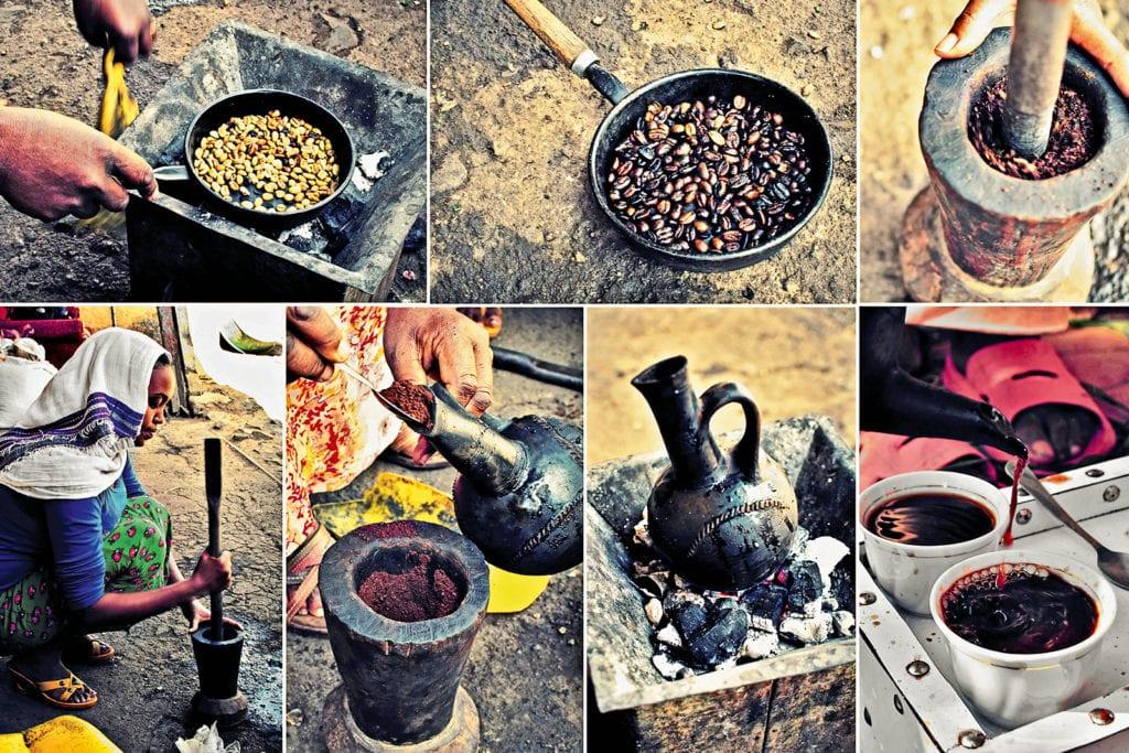 Kaffeezubereitung in Äthopien.