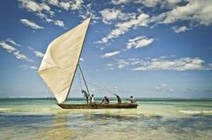 Fischerboot in Tansania.