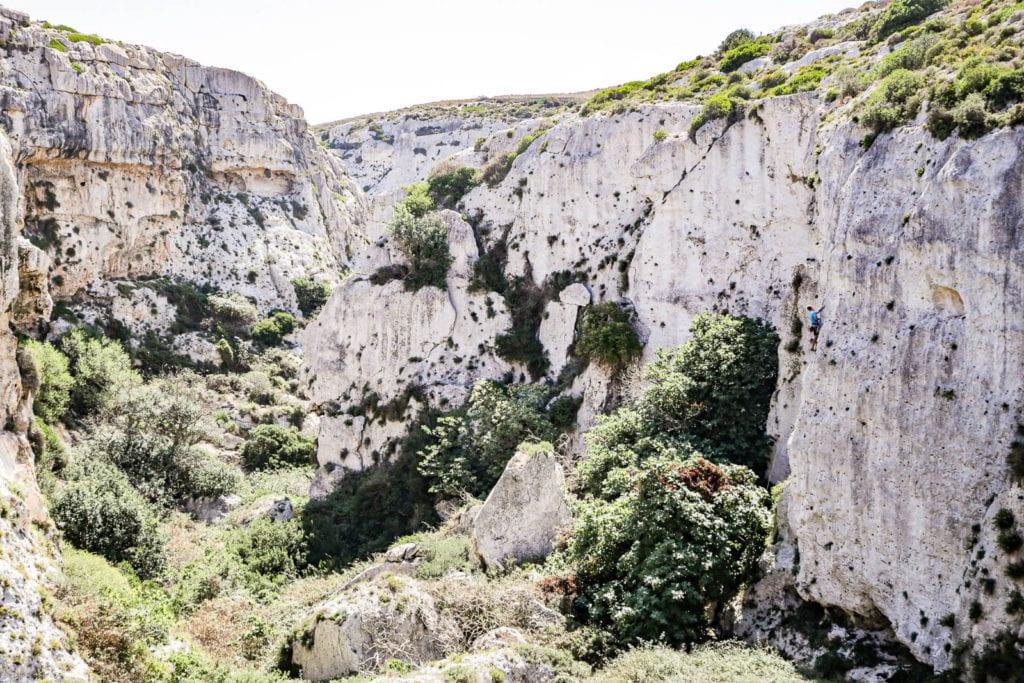 Malta Gozo Klettern Klettergarten Mgarr ix-Xini Tipps
