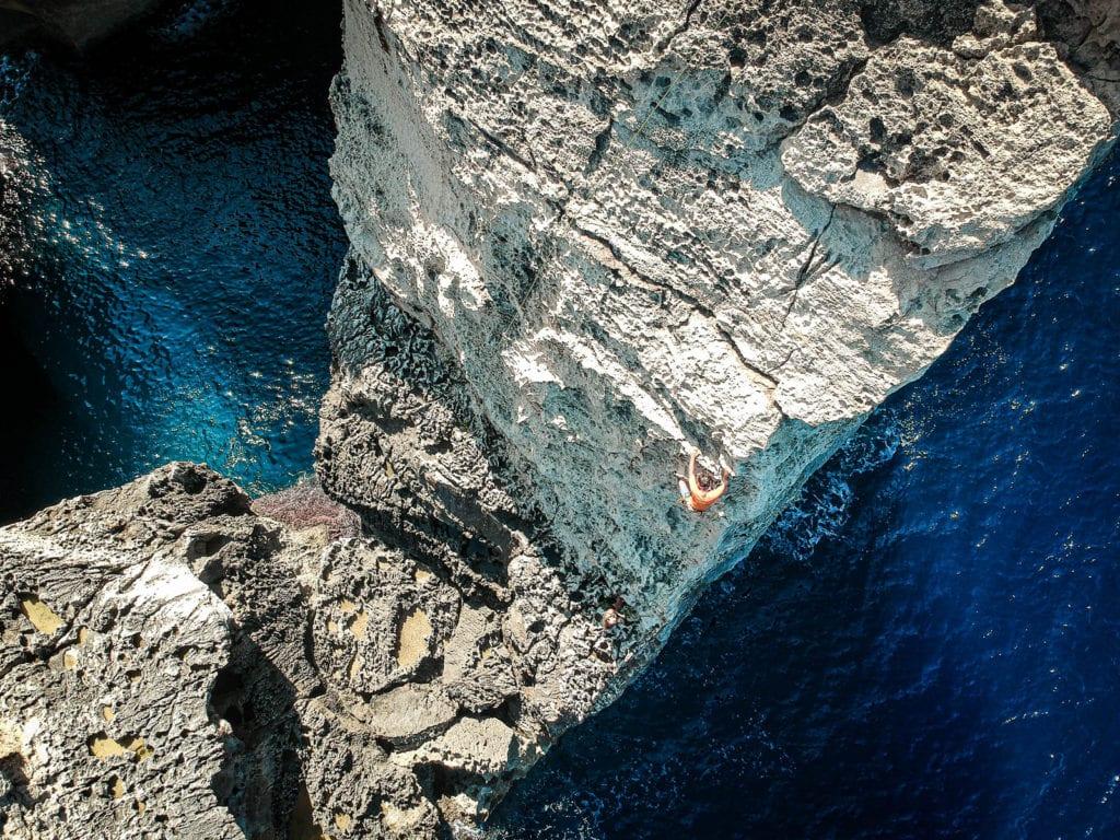 Malta Gozo Klettern Felsentor Wied il-Mielah