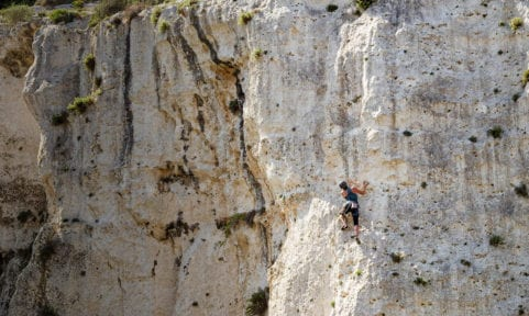 Malta Gozo Klettern Mgarr ix-Xini Fels