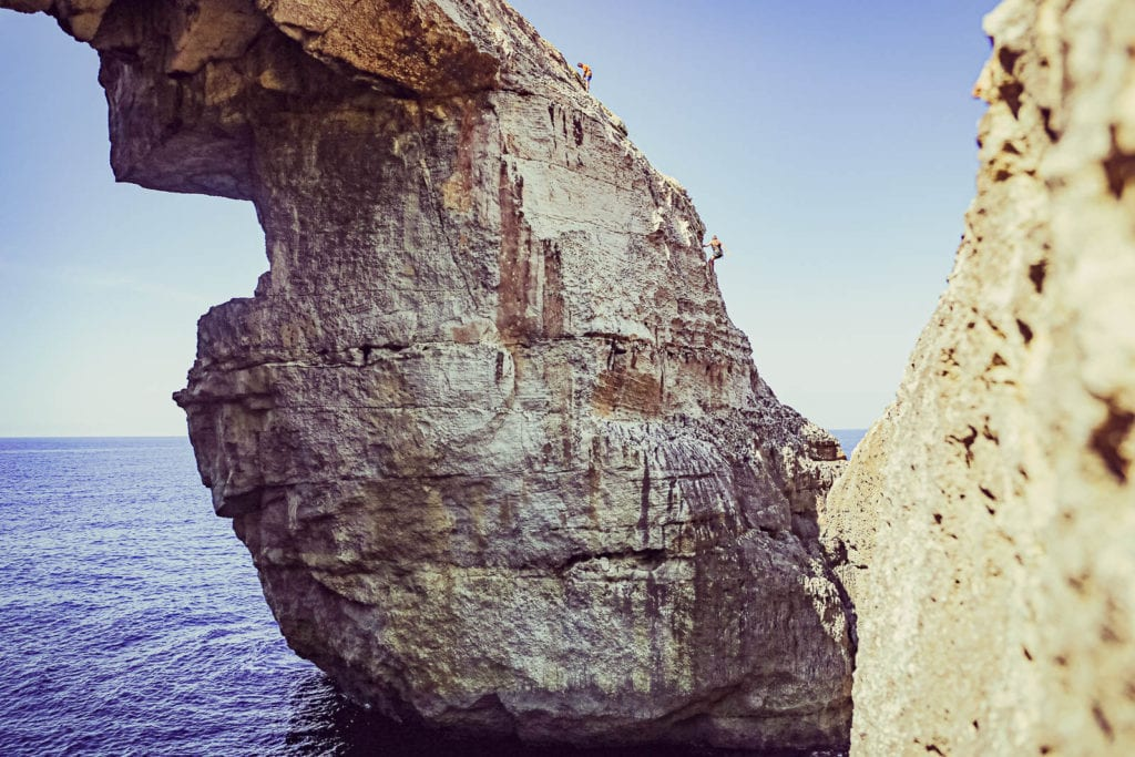 Malta Gozo Klettern Wied il-Mielah