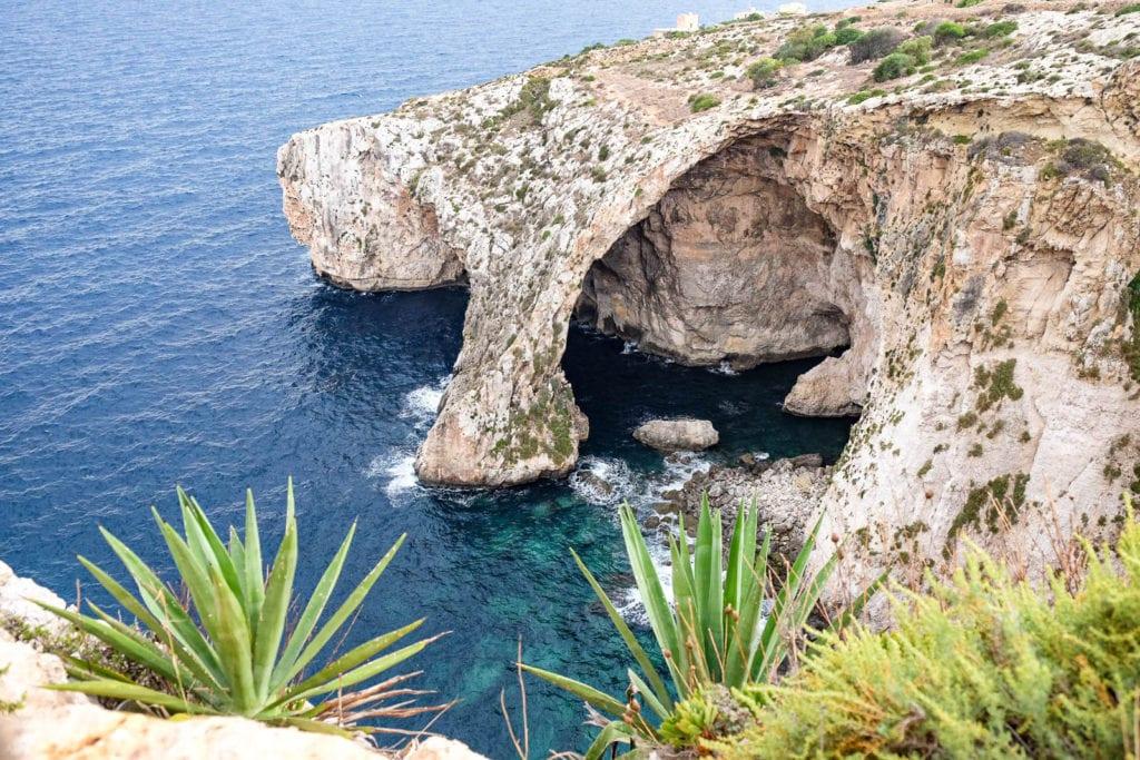 Malta Klettern Blaue Grotte