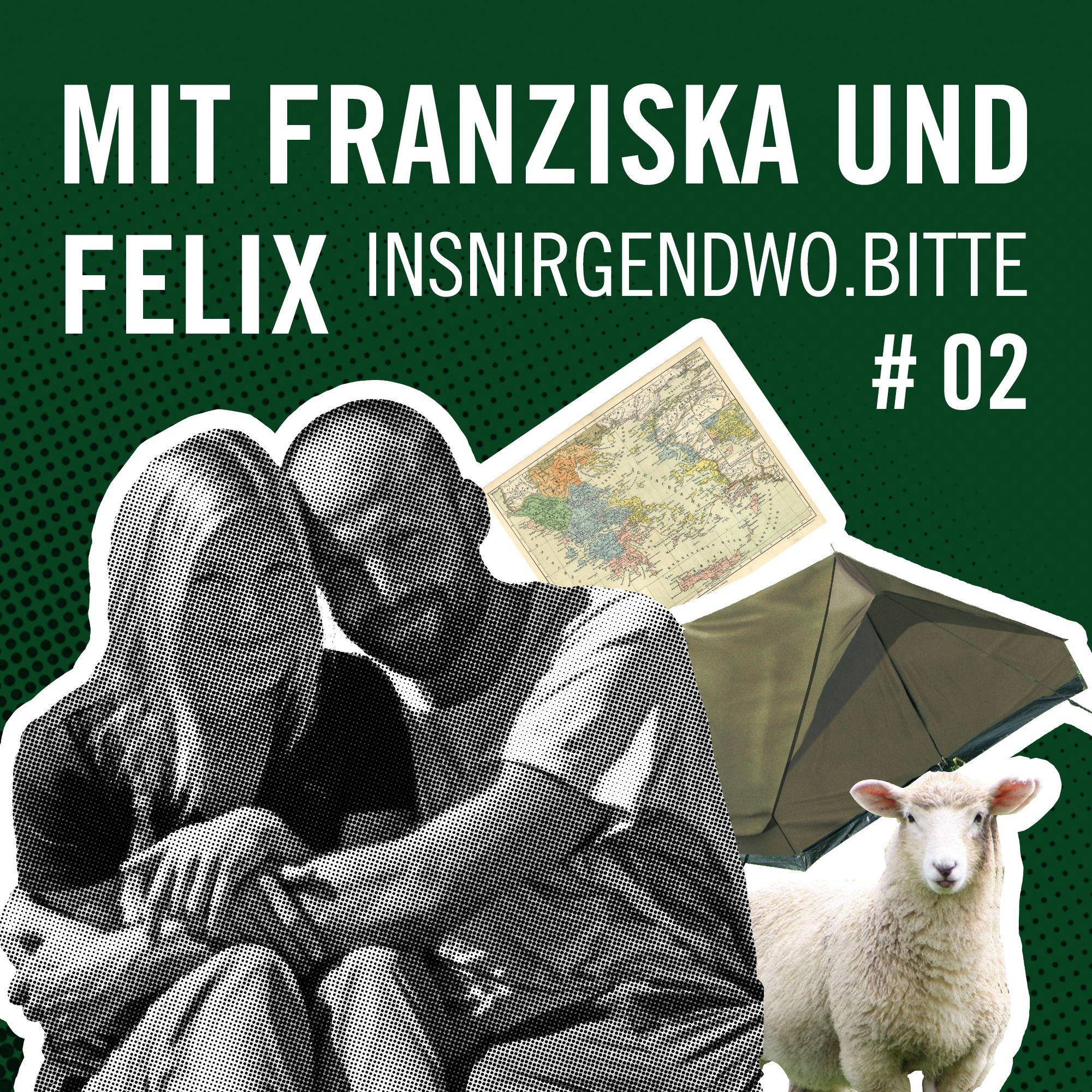 Titelbild Rausgehört #02 mit Franziska und Felix von insnirgendwo.bitte