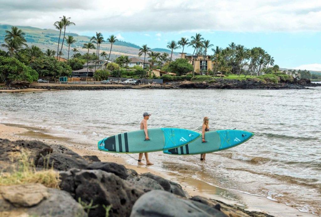 Mit den SUP auf Maui Hawaii