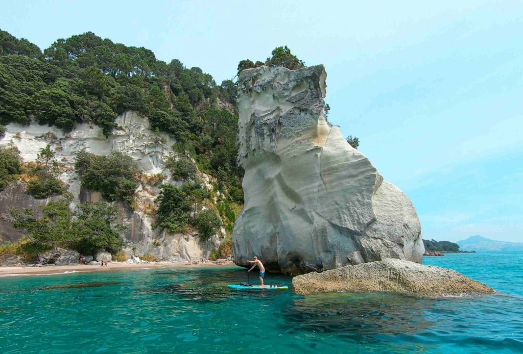 SUP zur Cathedral Cove