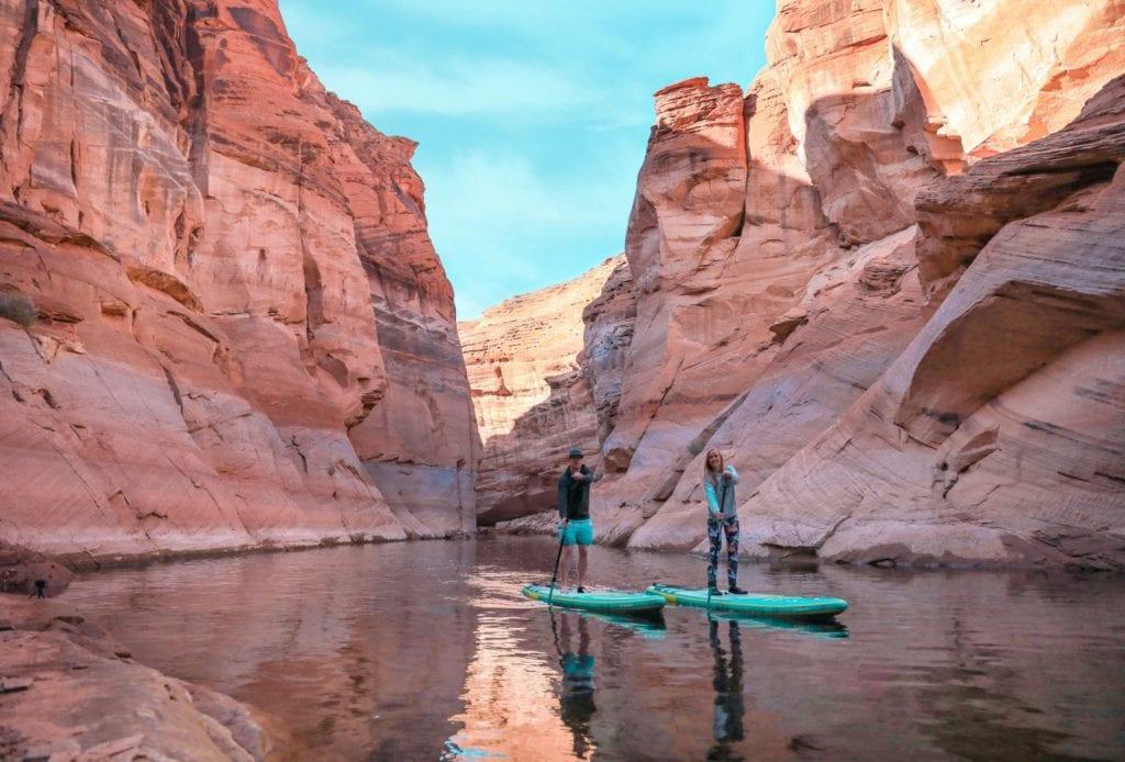 SUPen auf dem Antelope Canyon