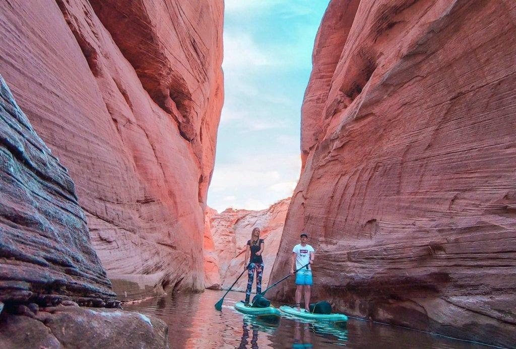 SUPen auf den Wasserwegen des Antelope Canyon