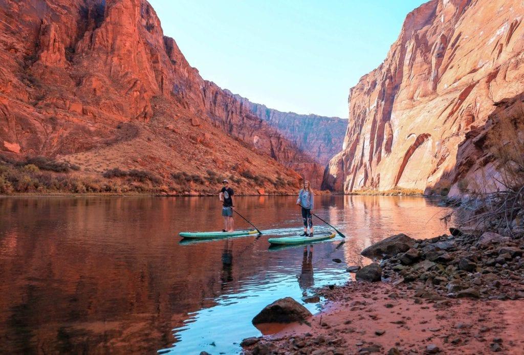 SUPen auf dem Colorado River