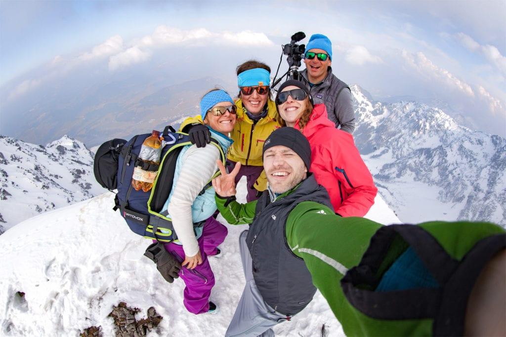 Skitouren Guppenbild am Gipfel