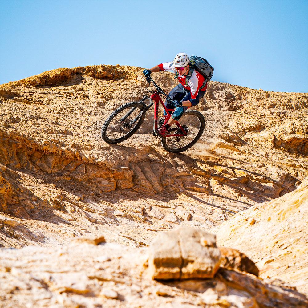 Mountainbiker in Israel.