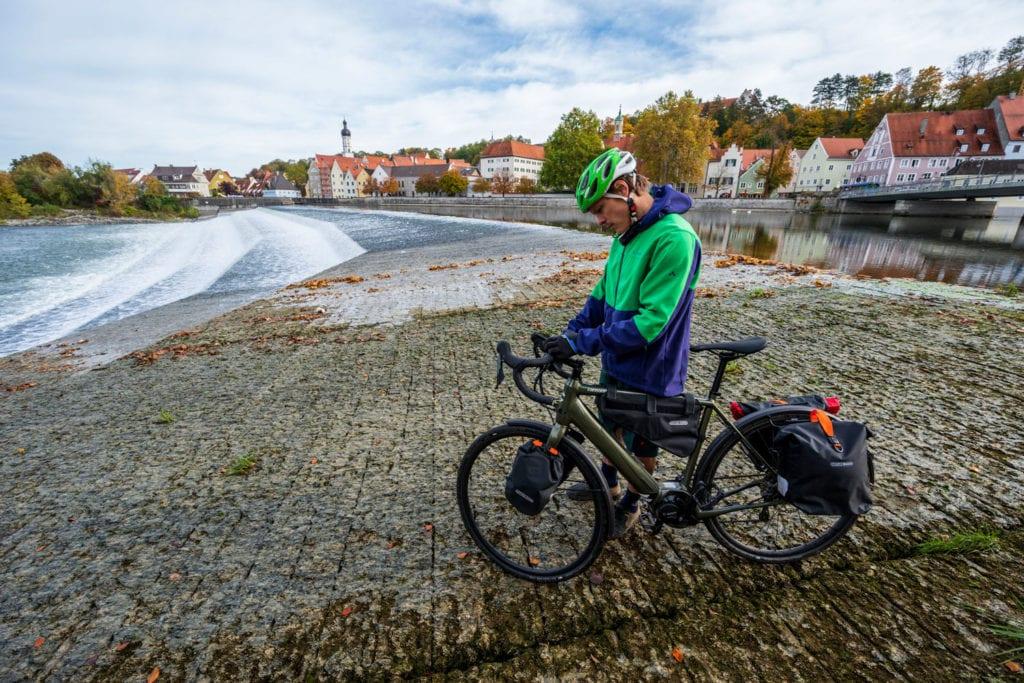 Radfahrer in Landsberg am Lech