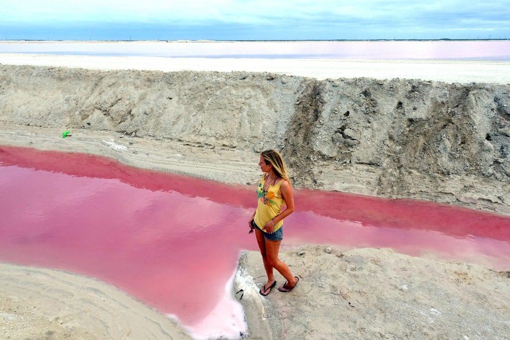 Mexiko Pinker See