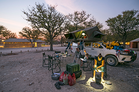 Dachzelt-Camping in Namibia