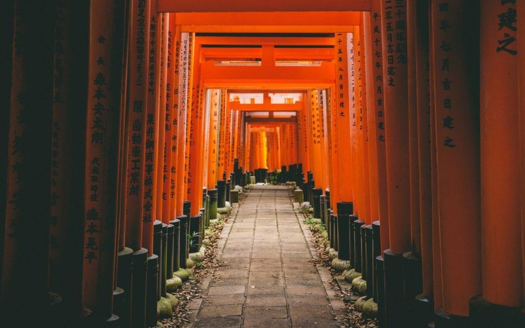 Fushimi Inari Schrein in Kyoto, Japan.