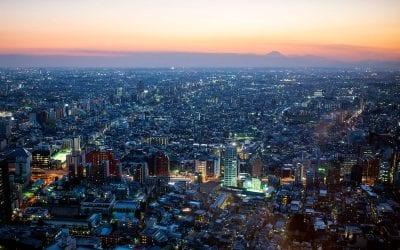 Tokio in der Dämmerung