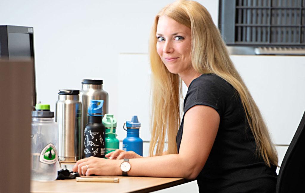 Annkatrin Klein beim Arbeiten