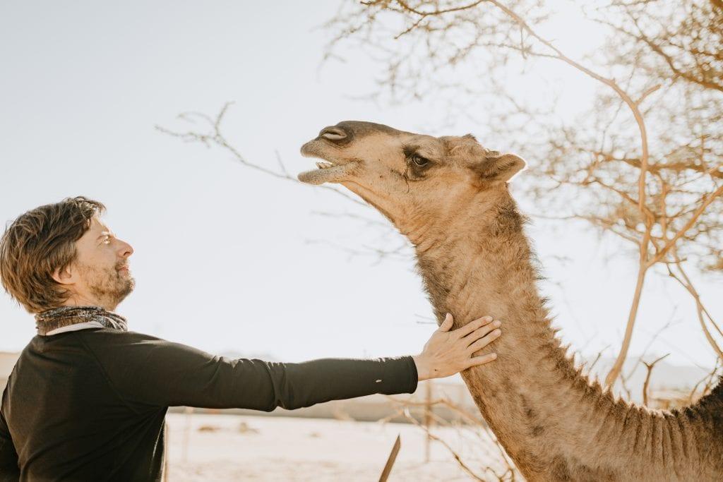 Stephan Orth mit Kamel