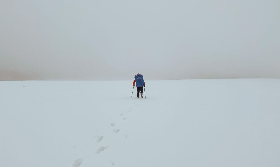 Am Grünen Band entlang im Winter
