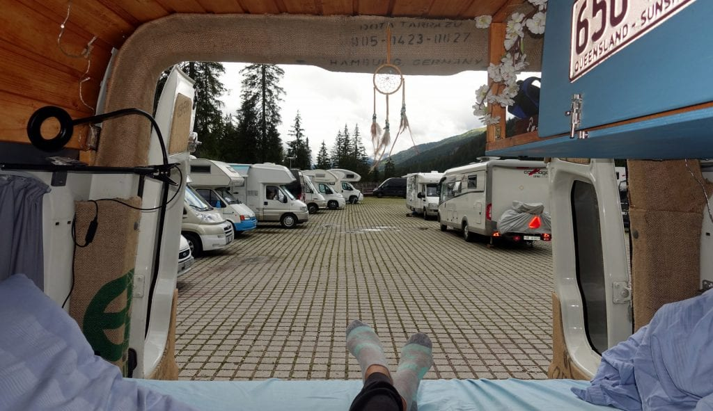 Bett im Van
