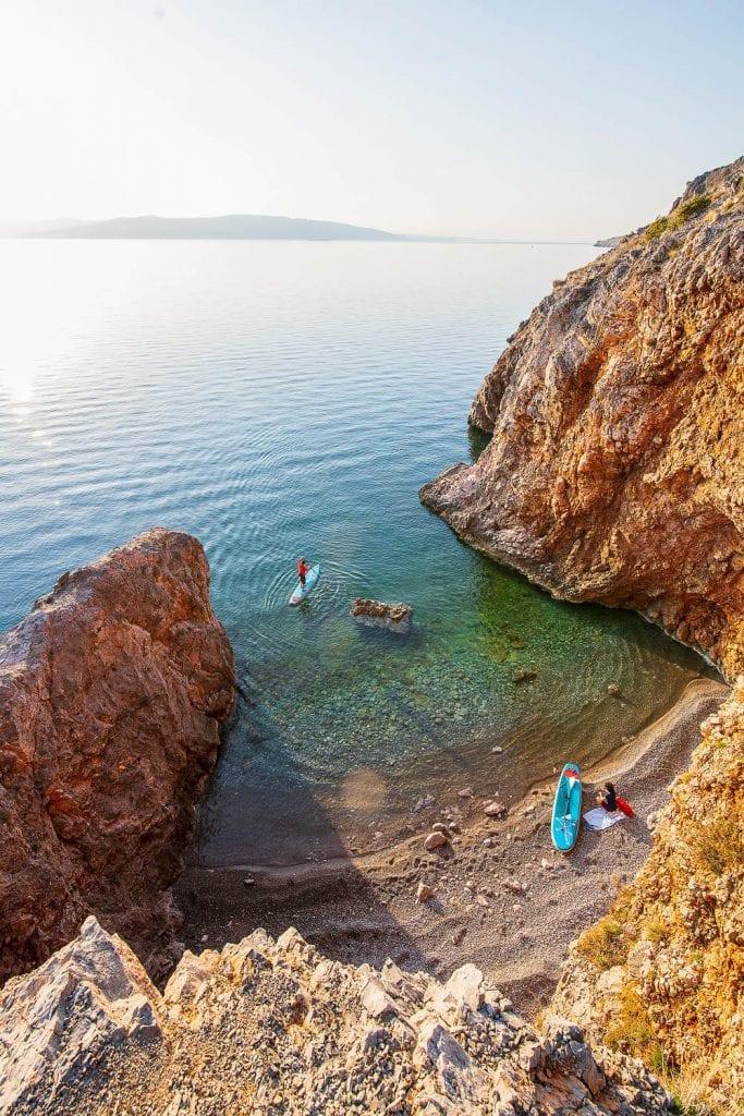 SUP an der kroatischen Adria