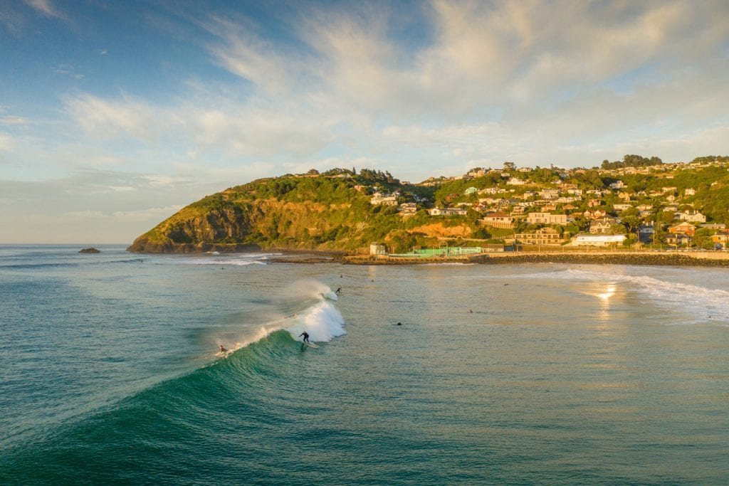 Surfspot in Dunedin, Neuseeland