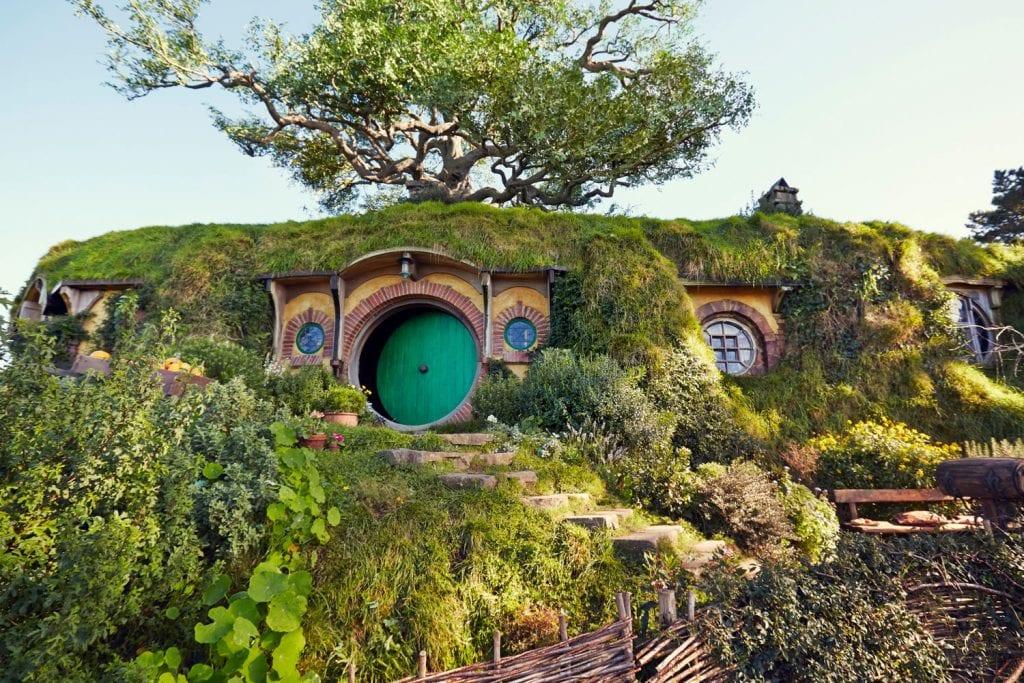 Am Set von Herr der Ringe in Matamata, Neuseeland