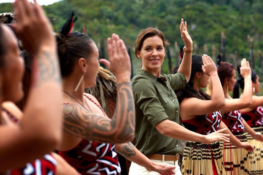 Maori-Tanz in Rotorua, Neuseeland