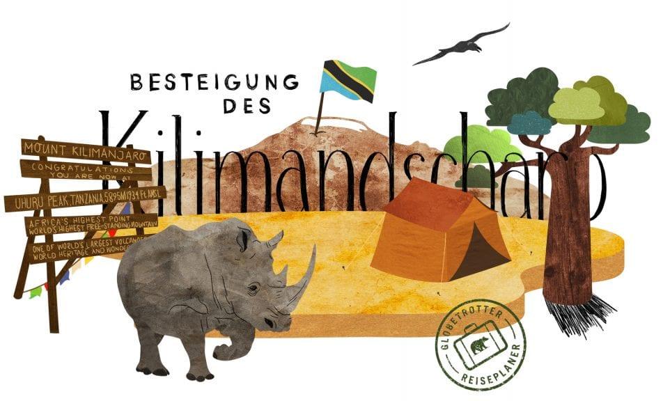Kilimandscharo Besteigung Illustration