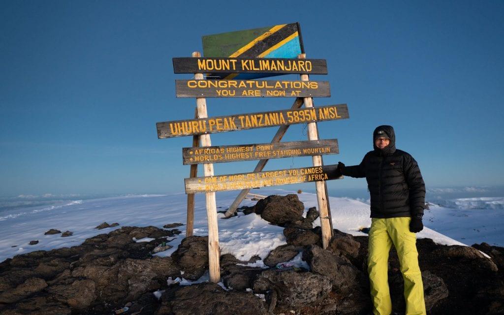 Planer Kilimandscharo Gipfel