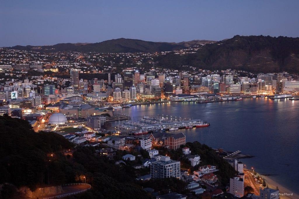 Der Hafen von Wellington, Neuseeland