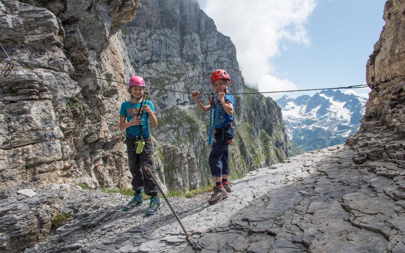Familien-Spezial: Tälli-Klettersteig in der Schweiz