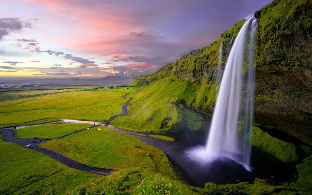 Wasserfall Seljalandsfoss Island