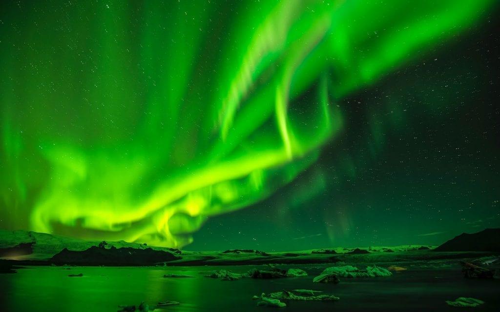 Island Ringstraße Nordlicht