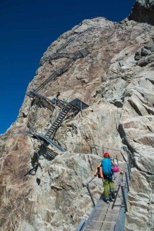Treppen an der Konkordiahütte