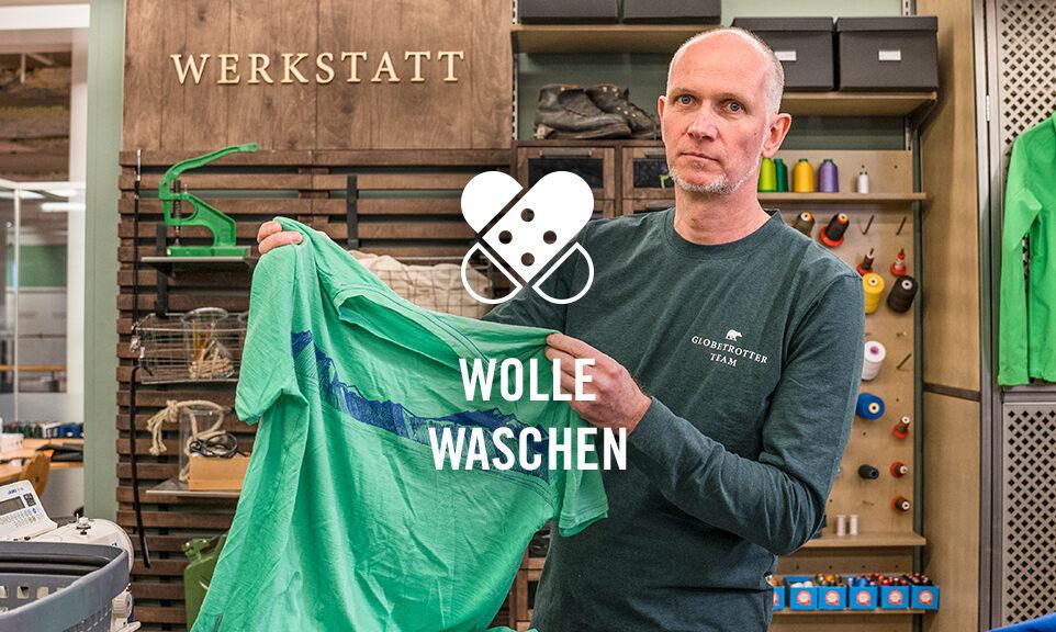 Werkstatt Wolle waschen