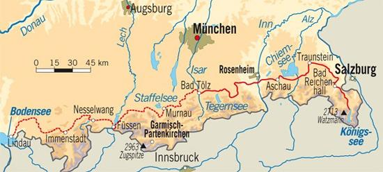 Bayerische Voralpen Radtour Zum Konigssee Globetrotter De